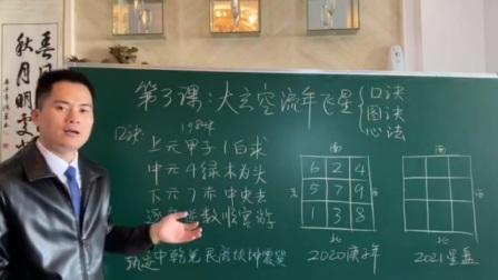 第三课:广州白云大玄空风水教学讲巜流年飞星图诀囗诀心诀》