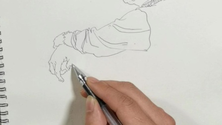 刘慧画室高考美术培训胡自强线性钢笔人物速写示范