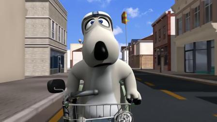 贝肯熊:倒霉熊被小蜥蜴挑衅,小电车被撞坏,轱辘都飞了!