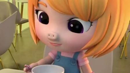 涂完口红吃饭,菲菲真是个精致的猪猪女孩