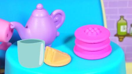 小猪佩奇来喝茶了