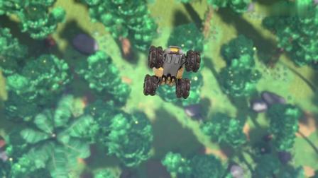猪猪侠:猪猪侠花式喂鱼,恐怖鸟终于开心了,猪猪侠总算安全了!