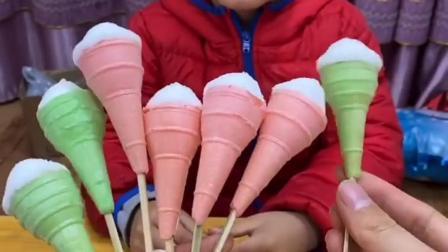 亲子游戏:妈妈来给宝贝卖冰淇淋棉花糖啦