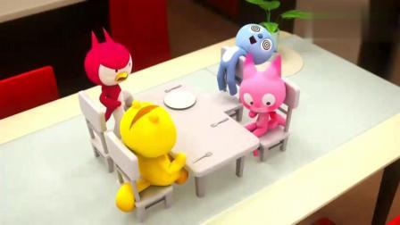 迷你特工队:贪吃的弗特,吃赛米的蛋糕,赛米生气了