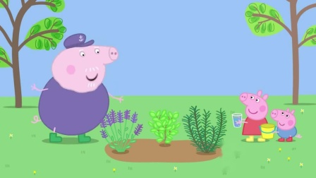 小猪佩奇:猪爷爷鼻子很灵,大老远闻到香味,居然是猪奶奶发出的