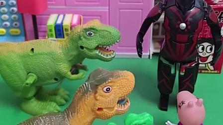 乔治有一件怪兽的衣服,它穿着去坏蛋家里,却遇到了奥特曼