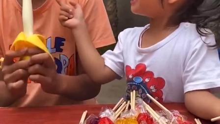 儿童小零食:妹妹的棒棒糖真的好多呀