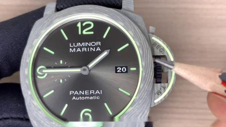 VS厂沛纳海pam01119庐米诺系列碳纤维夜光腕表真假难辨