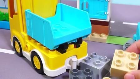 乐高积木的工地玩具