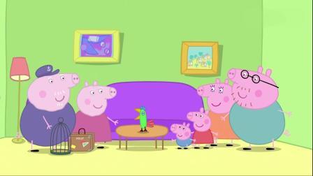 小猪佩奇:猪爷爷要出门旅行了,把照顾波利的任务,全交给佩奇了.