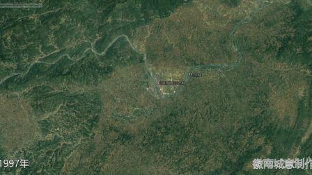 地图里看区域发展,湖南省芷江县城市化进程