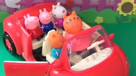 小朋友们都上车了,猫妈妈送它们去上学!