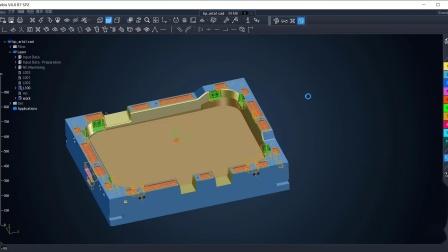 Tebis 2.5D模架智能自动化制造流程_上