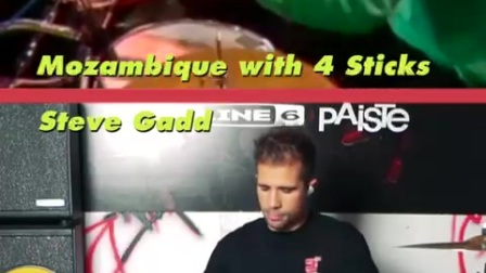 Steve gadd - The Mozambique with 4 sticks - Deivhook (Drum Lessons)