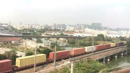 沪昆线杭州南站拍车(75153次通过)