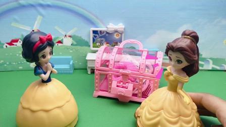 王后给白雪贝儿一个饰品盒,但是钥匙却不见了!
