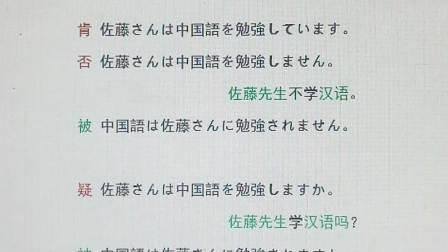 ☀(52英语)52日语:序号13-A-16 *听~被动=?