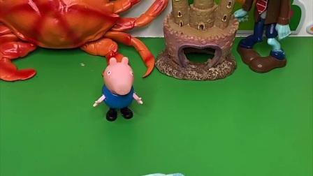 僵尸想吃好吃的,它以为会有大鱼大肉,结果来的是只大鳄鱼