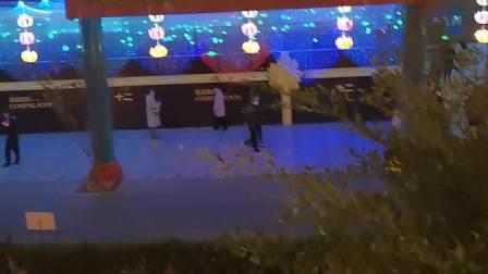眉山水街夜景