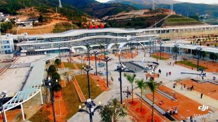 航拍-临沧云县火车站,将于2020年12月底通车试用,从而实现了临沧人民通铁路的发展梦想