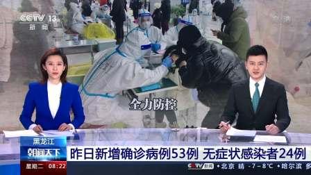 黑龙江:昨日新增确诊病例53例 无症状感染者24例