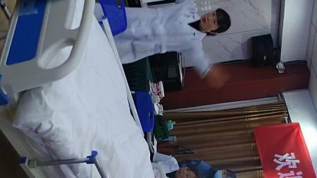 亳州市老年护理培训班,徐老师演示换床上用品