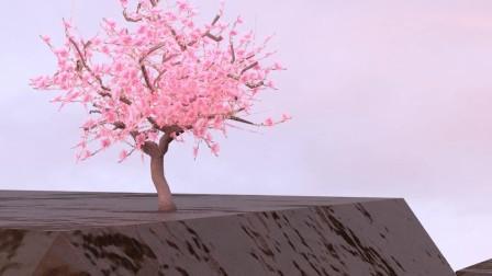 自制手机动态壁纸,桃树