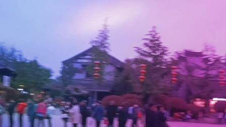 山东省枣庄市台儿庄古城夜景2021.03.24<农历三月十三>(周六)晚上拍摄