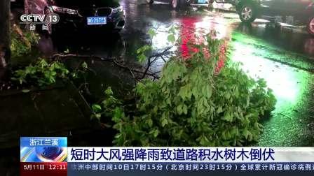 新闻30分 2021 浙江兰溪:短时大风强降雨致道路积水树木倒伏