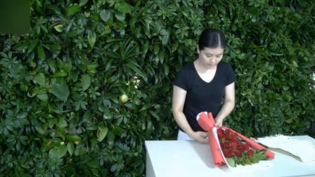 花艺设计培训,康乃馨花束包装设计教程,零基础开花店培训