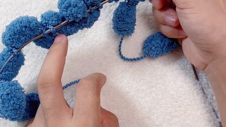 雅馨绣坊球球线加密盖毯编织教程1图解视频