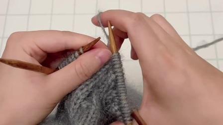 雅馨绣坊手工编织帽子视频:卷边叶子帽2图解视频