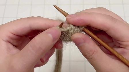 雅馨绣坊手工编织围巾视频:叶子花围巾2图解视频