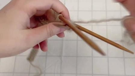 雅馨绣坊手工编织围巾视频:叶子花围巾3图解视频
