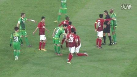 北京国安1:1广州恒大 北京功夫足球连续狂扫飞铲绝密视频
