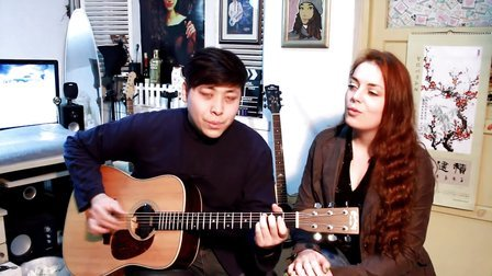 吉他弹唱 曲婉婷《我的歌声里》(郝浩涵和奥德莉)