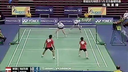 羽毛球比赛录像,2009马来西亚公开赛 半决赛,维迪安 托纳西尔vs尼尔森 彼德森