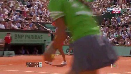 2011法国网球公开赛女单决赛 李娜VS斯齐亚沃尼 (自制HL)