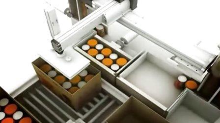自动装箱流水线三维模拟动画
