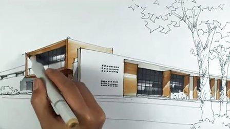 陈马带总导师-建筑手绘10-广州疯狂手绘培训视频教程