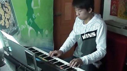 渔舟唱晚电子音乐 电子琴演奏 阿荣_心乐琴韵