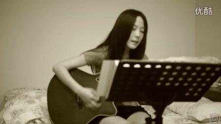 美女吉他弹唱棉花糖 - 陪你到世界的尽头
