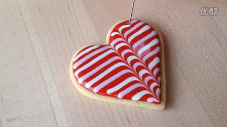 糖霜饼干教程之常用技法演示_心形饼干演示