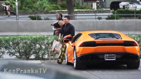 老外整人 流浪汉开兰博基尼恶作剧Homeless Man Gets A Lamborghini Huracan Prank!! (Poor vs Rich)