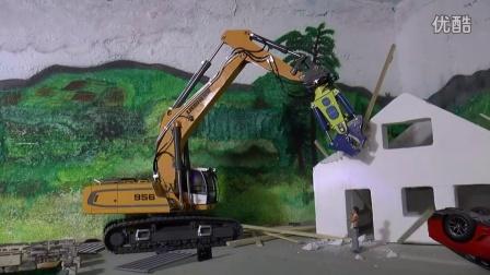 【RC 模型建筑工地】LIEBHERR 956挖掘机带破拆剪工作