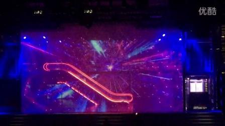 """2015迅达电梯上市发布会""""Big Bang , 迅达创世新生""""3D全息投影开场秀"""