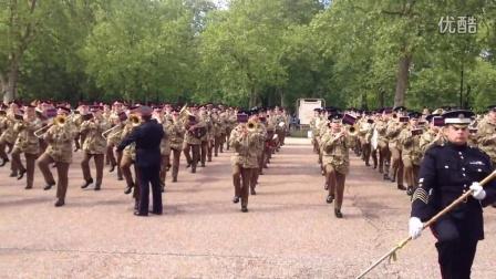 2014年英国女王生日庆典阅兵 禁卫步兵团军乐队彩排