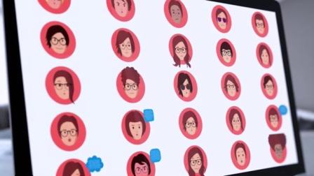 5650-卡通头像面部绑定人物面部表情说话自动口型MG动画绑定工具AE模板