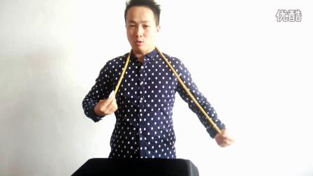 高级魔术教学6绳子穿越脖子