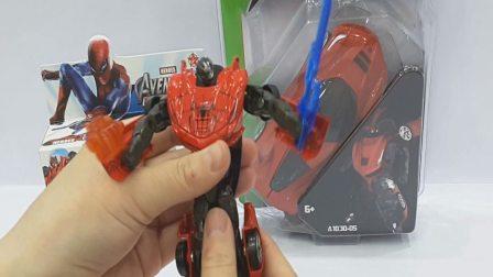 蜘蛛侠变形金刚机器人与 红色的Carbot 机器人, 视频为小孩儿,欢迎订阅!!